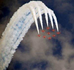 Airshow Fighter Jets Formation Red Arrows